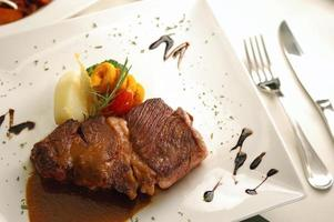 grillad nötköttbiff foto