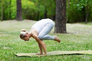 yoga och gymnastik foto
