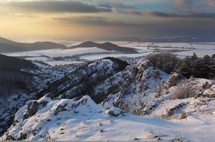 vinterlandskap i Slovakien foto