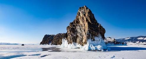 vinter sjö Baikal