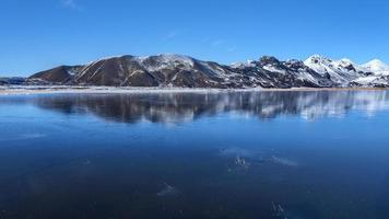 Island, vackert arktiskt landskap, vilda fält