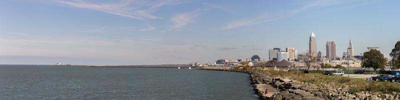 panoramautsikt över cleveland ohio foto