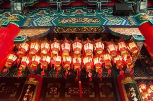 stängde upp lattern i det kinesiska templet foto