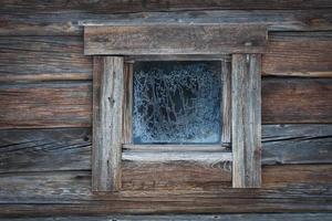 fönster på vintern foto