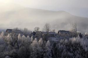 vinter im gailtal, kärnten foto