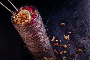 alkoholistisk vintern rekreation cocktail foto