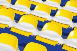 stadion på vintern foto