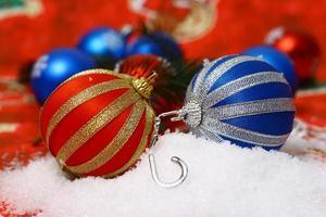 vacker dekoration för perfekt jul foto