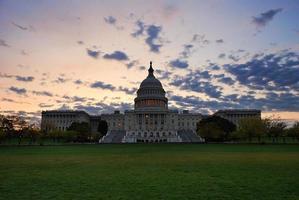 Capitol Hill Building på morgonen, Washington DC foto