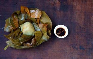 vietnamesisk mat, dumpling av pyramidris foto