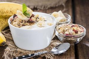 banan yoghurt foto
