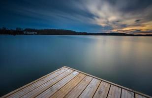 lång exponering sjö foto