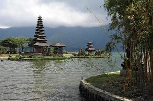 templet för pura ulu danau på bedugul foto