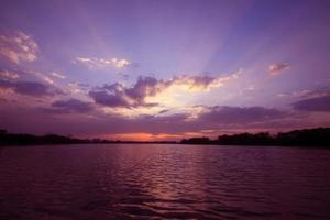 solnedgång landskap foto