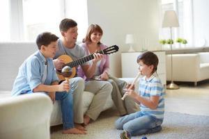 musikalisk familj foto