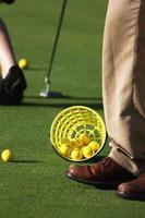 på en golfbana foto