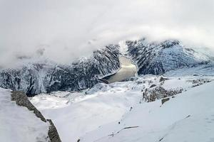 skidort zillertal - Tirol, Österrike. foto
