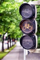 trafikljus för cyklar foto
