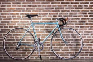 blå retro cykel foto