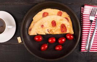 omelett med tomater