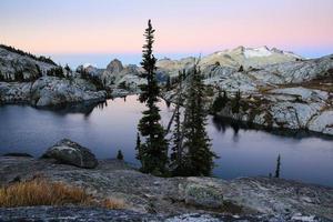 morgon alpenglow foto