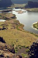 öken sjö landskap fåglar öga utsikt plan rekreation östra Washton foto