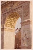 Washington Square arch - vintage vykort foto
