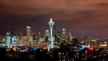 dimmig natt i Seattle foto