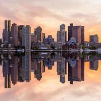 boston centrum skyline panorama foto