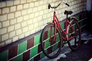 gammal cykel foto