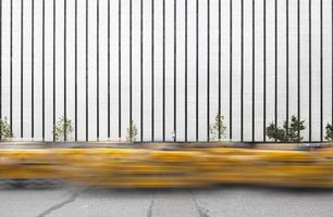 flöde av taxibilar i New York City