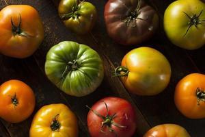 färgglada organiska arvtomater foto