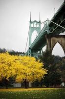 fotografi av St John Bridge, Portland, Oregon foto