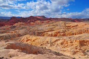 rött stenlandskap, eldens dal, nevada, usa foto
