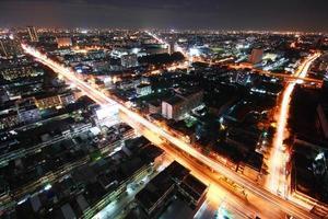 bangkok natt, bangkok thailand foto