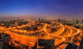 panorama bangkok motorväg foto