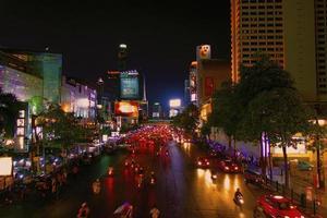 bangkok stadsljus foto