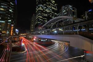 thailand - bangkok chong nonsi skywalk på bangkok skytrain satio foto