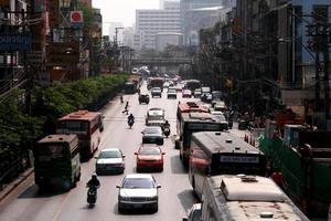 trafikstockningar i bangkok foto