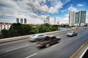 bangkok stad av vinkel foto