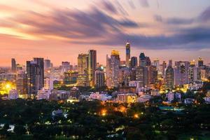 bangkok stadshorisont i stadens centrum foto
