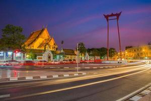 gigantisk gunga i bangkok, Thailand foto