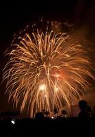 fyrverkerier exploderar, bangkok foto
