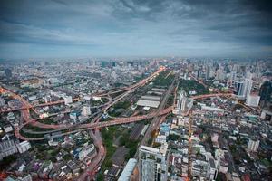 bangkok city på natten foto