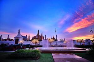 fontän på ministeriet för försvar bangkok thailand foto