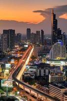 utsikt över stadens centrum i Bangkok. foto