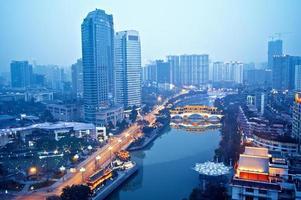 Kina stad natt scen foto