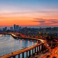 seoul solnedgång foto