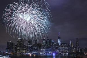 självständighetsdag med fyrverkerier i New York foto