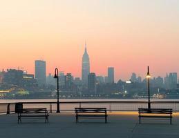 new york city silhouette foto